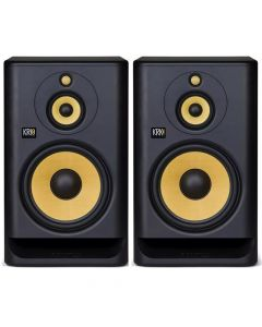 "KRK ROKIT 10 G4 10"" 3-Way Active Studio Monitors (PAIR) + Isolating Pads"