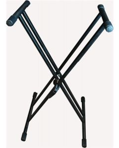 KS004 DOUBLE BRACED X KEYBOARD STAND