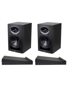 (PAIR ) Kali Audio LP6 6″ Studio Monitors with bonus Isolation Pads