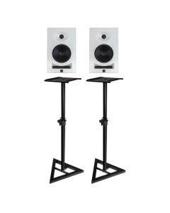 "KALI AUDIO LP-8 8"" 2-WAY ACTIVE STUDIO MONITOR PAIR WHITE PLUS BONUS STANDS"