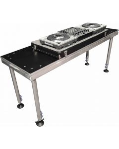 DJ TABLE/ Portable stage panel 60cm x 183cm size, 60cm to 100cm legs