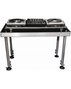 DJ TABLE/ Portable stage panel 60cmx 120cm size, 60cm to 100cm high legs