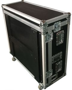 Mixer case with dog box and wheels - fits Midas M32 or similar