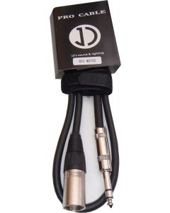 2M MALE XLR TO TRS (STEREO) 6.35MM JACK SIGNAL CABLE - MXTRS