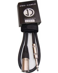 1m Male XLR to TRS (Stereo) 6.35mm Jack signal cable  MXTRS