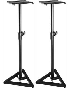 2X SOUNDKING DB039B STEEL STUDIO MONITOR STANDS 93-137CM HEIGHT ADJUSTABLE