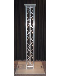 Alutruss Tri-truss Moving head upright stand with 600mm steel base plate