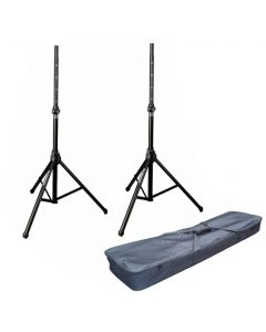 2X SOUNDKING SB309 SPEAKER STAND WITH LIFT ASSITANCE / GAS LIFT WITH CARRY BAG