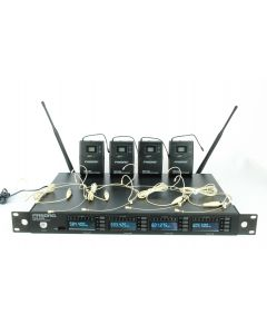 PASGAO PAW4000 FOUR CHANNEL SLIMLINE HEADSET MICROPHONE SYSTEM