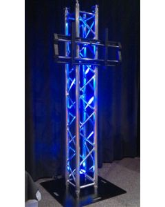 Box truss Plasma Screen Stand package with plasma bracket, with 900mm base plate
