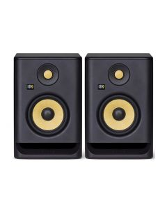 "KRK ROKIT RP5 G4 5.25"" POWERED NEAR-FIELD STUDIO MONITOR SPEAKERS (PAIR) + Bonus Isolating Pads"