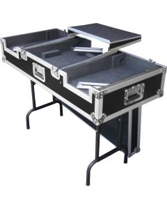 DJ coffin - flightcase / table with laptop tray - suits CDJ2000 CDJ900 DJM2000 DJM900