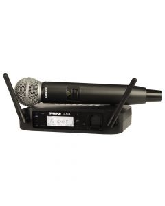 SHURE GLXD24/SM58 WIRELESS DIGITAL HANDHELD SYSTEM: 2.4GH