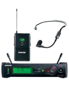 SHURE SLX14S35 WIRELESS MIC BODYPACK SYSTEM WITH SM35 HEADSET MICOROPHONE