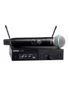 Shure SLX-D System with SLXD2/Beta58 Handheld Transmitter and SLXD4 Digital Wireless Receiver