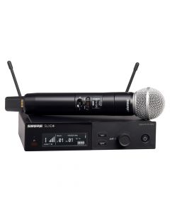 Shure SLX-D System with SLXD2/SM58® Handheld Transmitter and SLXD4 Digital Wireless Receiver