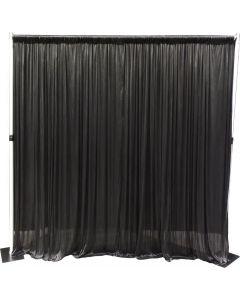 2.4m drop x 6m wide SILK BLACK drape