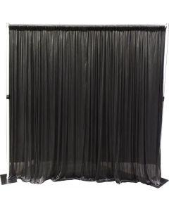 4m drop x 6m wide SILK BLACK drape