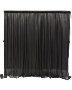 2.4m x 2.4m Aluminium Pipe and Drape support system with SILK black drape - 2.4m max height