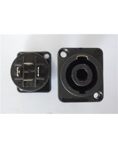 4 pole speakon speaker connector, female chassis SP010(2,4P)