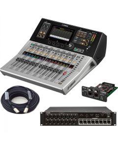 YAMAHA TF1 digital mixer BUNDLE WITH NY64-D DIGITAL INTERFACE CARD, TIO1608-D I/O RACK AND CAT6 CABLE