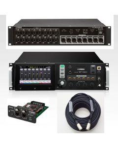 YAMAHA TF-RACK digital mixer BUNDLE with NY64-D digital interface card, Tio1608-D I/O rack and CAT6 cable