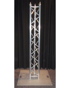 Truss stand - tri truss upright with 600mm steel base plate
