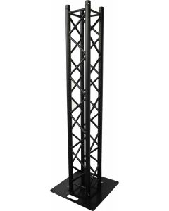 Box Truss Black upright stand - box truss stand package, 600mm base plate