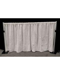 WHITE 1.2m drop x 3m width Velveteen drape - 210gsm