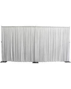 White silk drape 3m drop x 6m wide