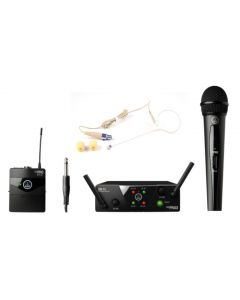 AKG WMS-S40D DUAL VOCAL / INSTRUMENT MICROPHONE + BONUS SLIMLINE EARSET MIC WMS-S40DV+IA/C