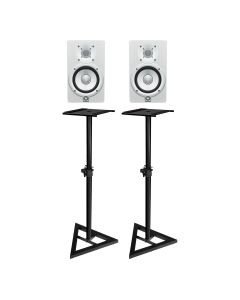 "Yamaha HS5W 5"" Active Studio Monitors White (Pair) - With MONITOR STANDS"