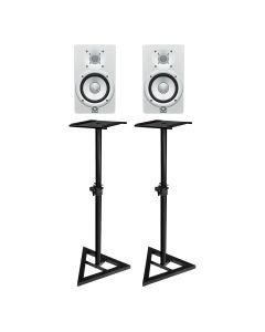 "Yamaha HS5W 5"" Active Studio Monitors White (Pair) - FREE MONITOR STANDS"