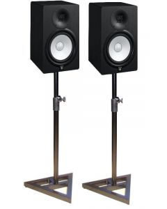 "YAMAHA HS8 8"" ACTIVE STUDIO MONITORS BLACK (PAIR) - With MONITOR STANDS"