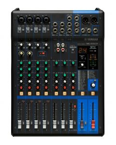 YAMAHA MG10XUF 10-CHANNEL MIXING CONSOLE WITH USB AND FADERS