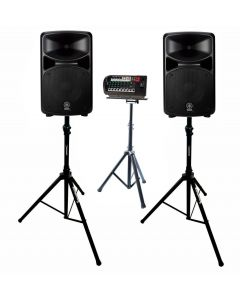 YAMAHA STAGEPAS 600BT PORTABLE PA SYSTEM WITH STANDS